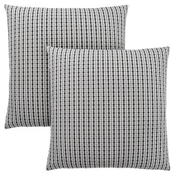 "Pillow - 18""X 18"" / Light Grey / Black Abstract Dot/ 2Pcs"