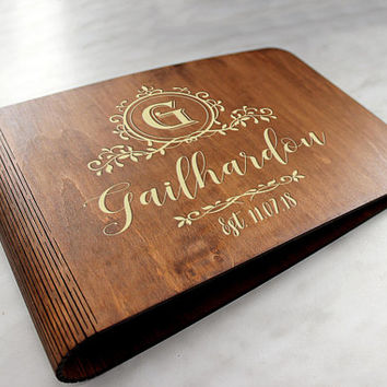 Personalised Wedding Guest Book Wedding Guest Book Rustic Wedding Guest Book Custom Guest book Alternative