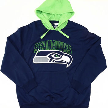 Seattle Seahawks Majestic Pullover Hooded Sweatshirt Size L