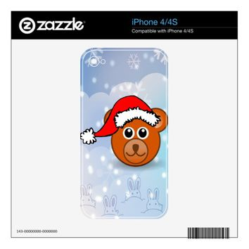 Christmas Bear iPhone 4S Decals