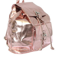 Clueless Metallic Pink Backpack | Oh My Love