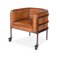 Lounge Singer Industrial Leather Chair