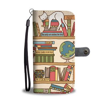 Purrrfect Books Wallet Phone Case-Clearance