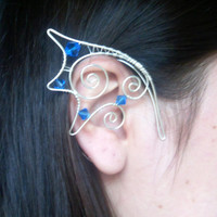 RESERVED For Sofie, Dragon Ear Cuffs In A Certain Shade Of Blue!