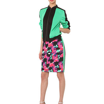 Isaac Mizrahi New York Color-Blocked Bomber Jacket