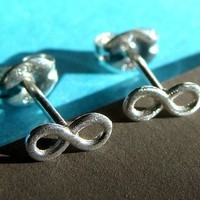 Tiny Infinity Stud Post Earrings in Sterling Silver