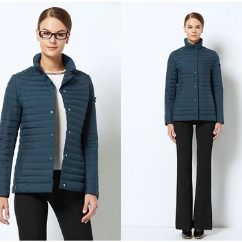 Stylish Windproof Women's Parka Quilted Windbreaker Coat