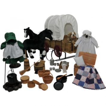 "Little House® 48 Piece American Prairie Apparel & Accessory Set for 18"" Girl Dolls"