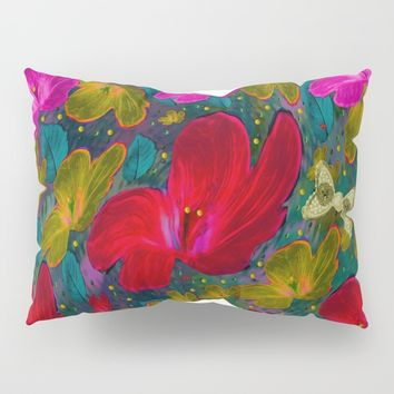 Fantasy Garden In Contemplation Pillow Sham by Pepita Selles