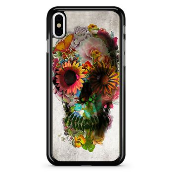 Floral Skull 2 iPhone X Case