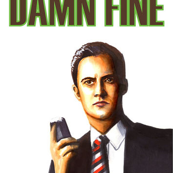 Twin Peaks Valentines Day Card Agent Cooper Damn Fine