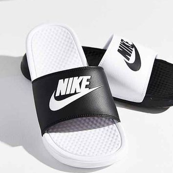 buy online ca33a e9bee nike benassi slides white crystahhled wanelo ... 019b5d2a35