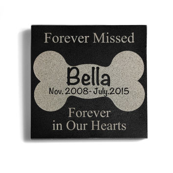 Customizable Pet Bone Memorial Pet Stone
