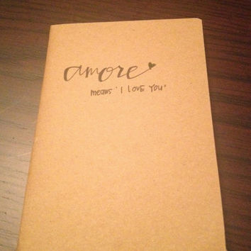Handwritten Kraft Notebook
