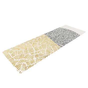 "Pom Graphic Design ""Inca Day & Night"" Gold Black Yoga Mat"