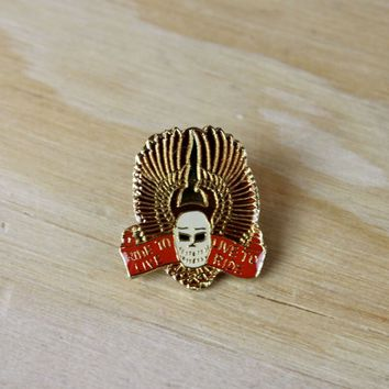 "Pins For Jackets - MOTORCYCLE PIN: Motorcycle Enamel Pin - ""Ride To Live. Live To Ride"" 