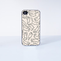 Cute Flying cats  Plastic Phone Case For iPhone 4/4S More Case Style Can Be Selected