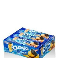 OREO Chocolate Sandwich Cookies with Orange Ice Cream Flavor Net 12.41 Ounces