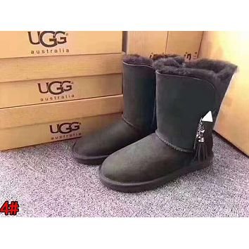 """UGG"" Fashionable Women Tassel Warm Wool Snow Boots High Long Boots 4#"