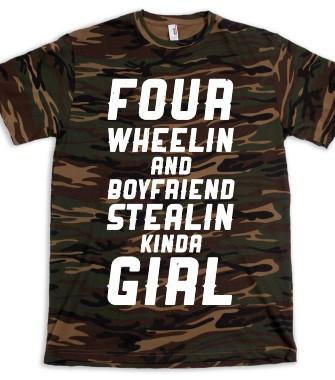 Green T Shirt Cute Girly Hunting Shirts From Skreened