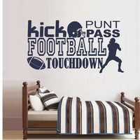 Football Word Collage | Sports Decal | Vinyl Wall Lettering