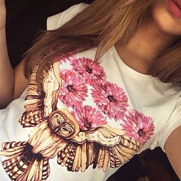 Owl Printed T-Shirt