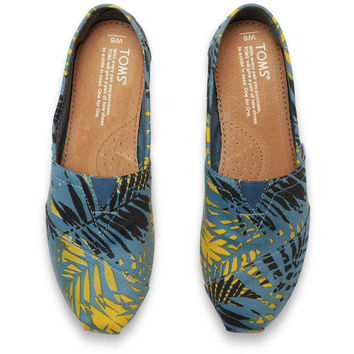 AEGEAN BLUE CANVAS PALMS WOMEN'S CLASSICS