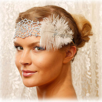 Bridal headband, rhinestone headband, The great Gatsby hair jewelry, Crystal headband, bridesmaid headband, 1920's jewelry