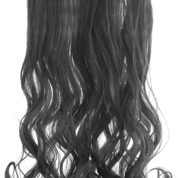 "20"" One Piece Hair Extension Wavy (1 Jet Black)"