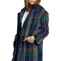 Nina Boucle Check Wool Look Coat