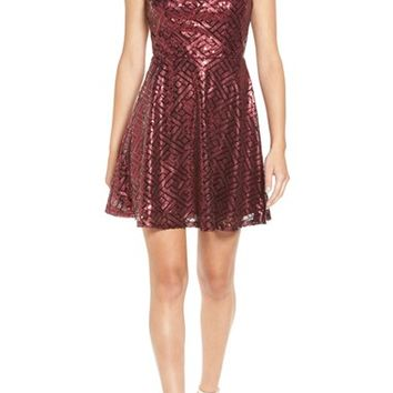 Love, Nickie Lew Sequin Fit & Flare Dress | Nordstrom