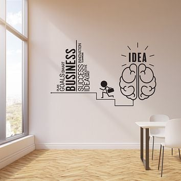 Vinyl Wall Decal Business Idea Home Office Inspirational Art Words Stickers Mural (ig6165)