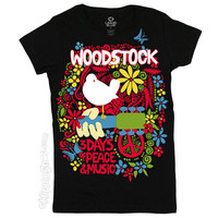 Woodstock - An Aquarian Exposition Women's T Shirt on Sale for $21.95 at HippieShop.com