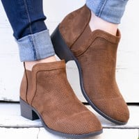 Chestnut Suede Booties
