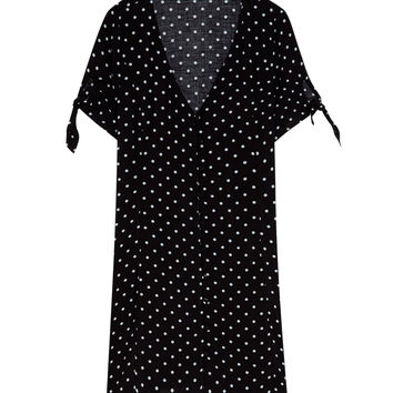 Short sleeve polka dot dress - Dresses - Clothing - Woman - PULL&BEAR United Kingdom