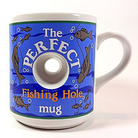 The Perfect Fishing Hole Coffee Mug Cup 14oz Papel Fisherman Gift Novelty k289