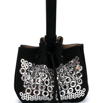 AZZEDINE ALAÏA | Eyelet Suede Wristlet Bag | Womenswear | Browns Fashion