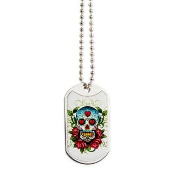 Day of the Dead Skull Dog Tags> Halloween, Samhain & Day of the Dead> LovelyDesigns4U2