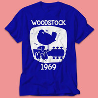 Woodstock 1969 Vintage Printed Classic Festival Shirt  - Multi Size Color
