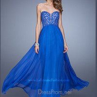 Strapless Sweetheart La Femme Formal Prom Gown 20534