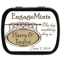 Street Sign Personalized Engagement Mint Tins for engagements, save the date, invitations and more! Candy Favors Party Favors