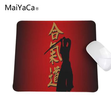 Aikido Japanese Martial Arts Custom Desing Gaming Mouse Pad Speed Control Computer Lock Edge Mats