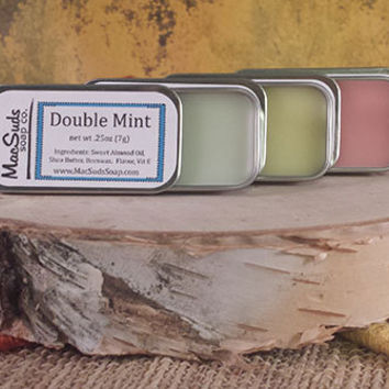 VALENTINE'S DAY GIFT set of 4 Lip Balms, Lip Butter, natural lip moisture, lip salve, lip gloss