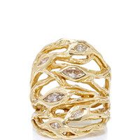 Multiple Roots Six Diamonds Ring