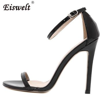 EISWELT Summer Women High Heels Sandals Shoes Woman Party Wedding Ladies Pumps Ankle Strap Buckle Stilettos Sexy Shoes
