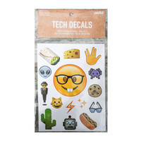 Nerdy Emoji Tech Decals