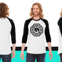 Dharma Initiative (LOST) American Apparel Unisex 3/4 Sleeve T-Shirt
