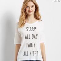 Tokyo Darling Sheer Sleep Party Oversized Graphic T