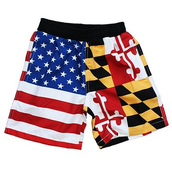Maryland & American Flag / *Youth* Board Shorts