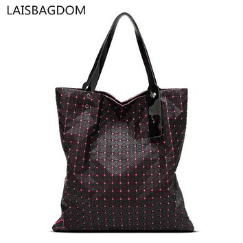 Diamond Lattice Women Baobao Geometry Bag Silica Gel Folding Over Handbag Women Bag BAOBAO Totes Shoulder Bags